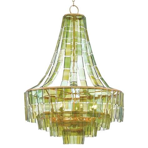 Wine Glass Chandelier Rodger Modern Recycled Green Wine Glass Chandelier Kathy Kuo Home
