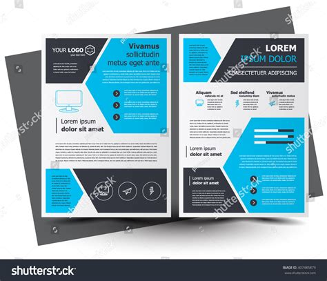 leaflet design creative flyer brochure design business flyer size stock vector
