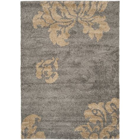 gray and beige area rug shop safavieh votive shag gray beige rectangular indoor machine made tropical area rug common