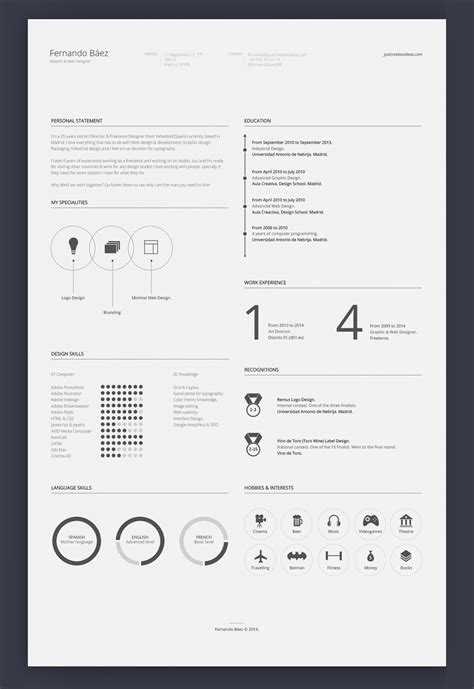 minimalist resume template photoshop 7 free editable minimalist resume cv in adobe illustrator and photoshop format