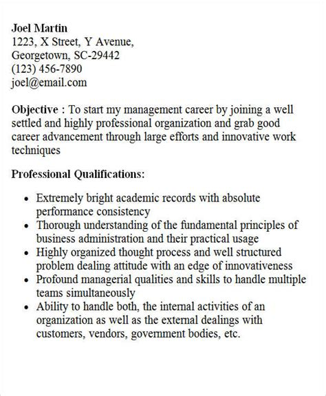 Career Objective For A Mba Fresher by 28 Free Fresher Resume Templates Free Premium Templates