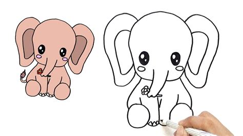 how to make doodle on how to draw a elephant dragoart best elephant 2017