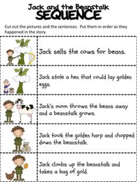 jack and the beanstalk story sequence | coloring, jack o
