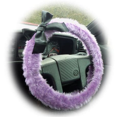 lilac jeep lilac steering wheel cover faux furry fur fluffy fuzzy car
