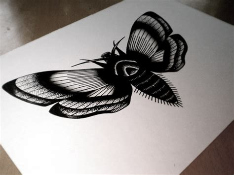 black ink tattoo designs unique black ink moth design