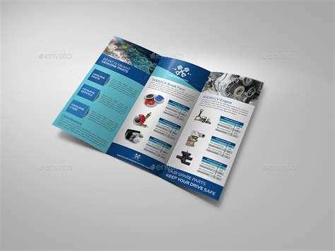 auto parts catalog tri fold brochure template by