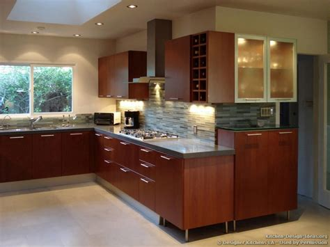 Cherry Kitchen Backsplash Modern New York By Glass | designer kitchens la pictures of kitchen remodels