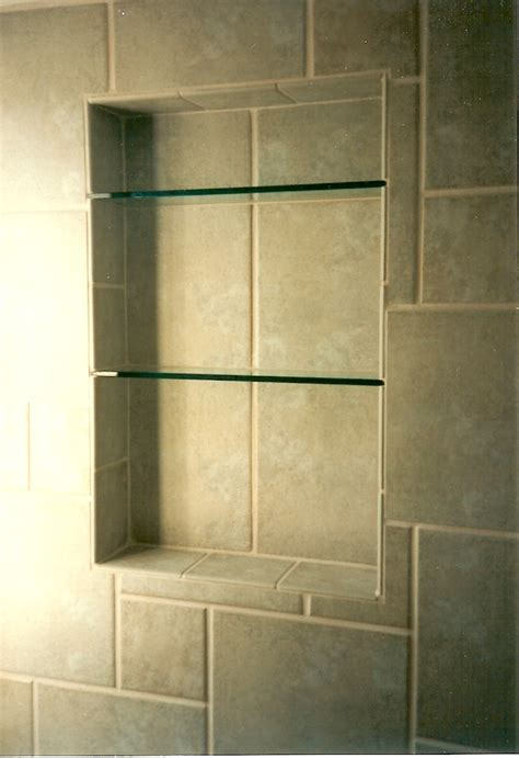 Bathroom Niche Shelves Bathroom Niche Shelves Beautiful Serene Bathroom Are The Glass Shelves In The Shower Niche