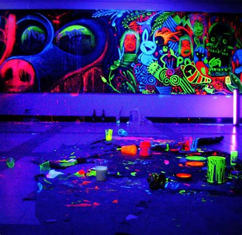 blacklight reactive wall paint fancy blacklight reactive paint