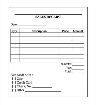 department store receipt template sales receipt template printable receipt template excel