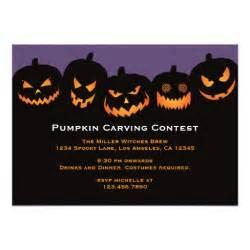 pumpkin carving invitation zazzle