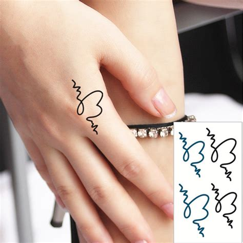 shnapign messy heart flash tattoo hand sticker 10 5 6cm