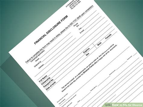 Files For Divorce by How To File For Divorce 13 Steps With Pictures Wikihow
