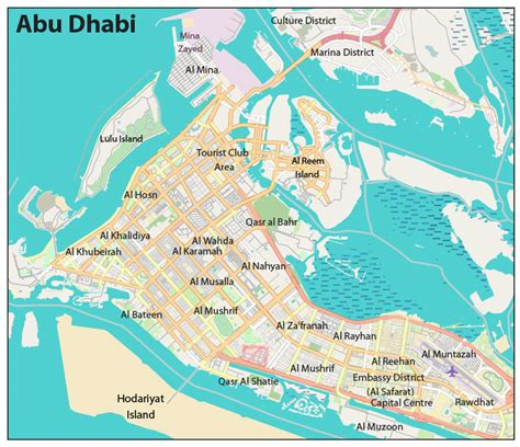abu dhabi on map world cities maps cities maps of the world