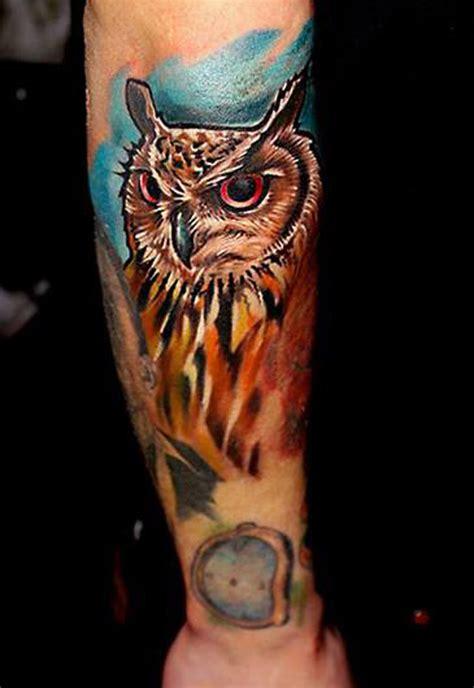 owl tattoo design arm 30 awesome traditional owl arm tattoos