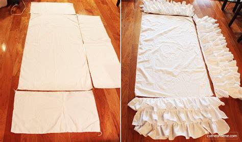 Crib Bed Skirt Tutorial Tutorial Diy Ruffle Crib Skirt Pinterest