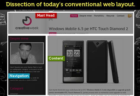 web layout characteristics the characteristics of a less conventional website with