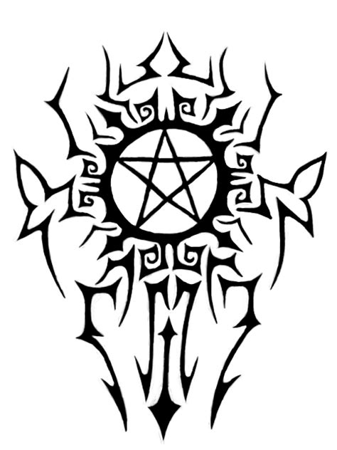 pentagram tribal tattoo by beanie jess 09 on deviantart