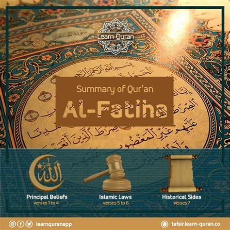 The Opener Al Fatihah a brief overview of surah al fatiha the opener learn