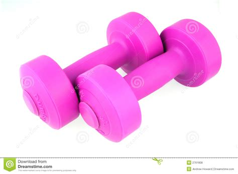 Dumbell Pink pink dumbbells royalty free stock photos image 2761808