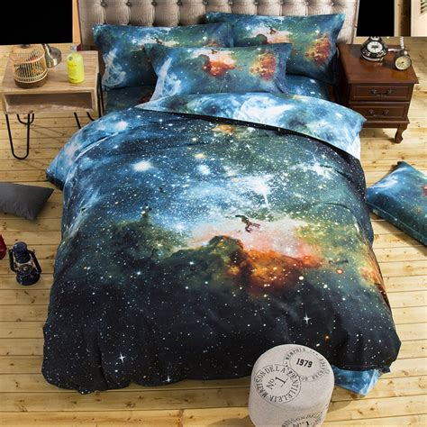 3d Galaxy Bedding Sets Twin Queen Size Universe Outer Outer Space Bedding Set