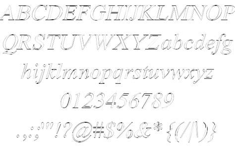 White Outline Font by Amerton Outline Font By Roger White Fontspace