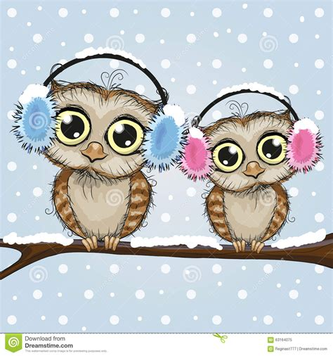 cute owls stock vector image