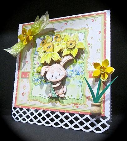 Decoupage Kits Sale - daffodil delivery 8x8 mini kit decoupage cup598408 68