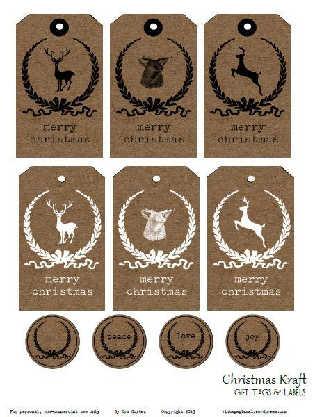 printable kraft paper labels free printable download christmas kraft tags and labels