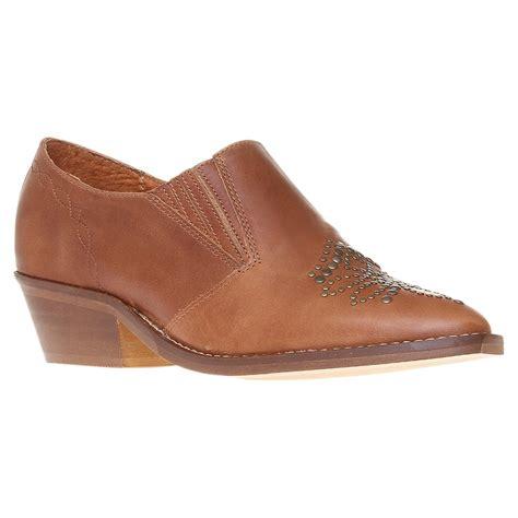 heel loafers carvela kurt geiger simper leather studded toe block heel