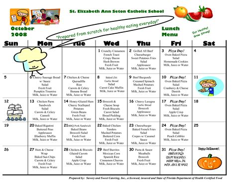 school lunch calendar template 8 best images of school lunch calendar templates school