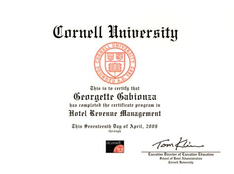 College Of Charleston Mba Hospitality Revenue Management by Imperial Hotel Management College Cornell