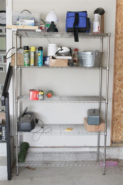organized garage shelves lowes creator