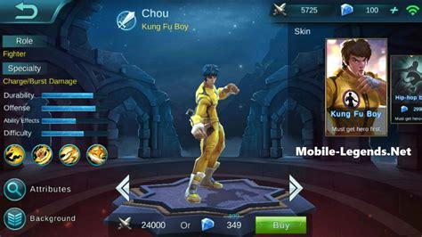 chou mobile legend chou features 2018 mobile legends