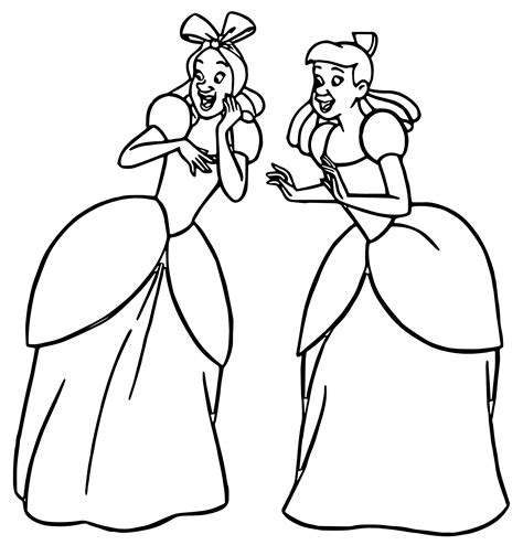 Coloring Page 24 by Cinderella Tremaine Drizella And Lucifer
