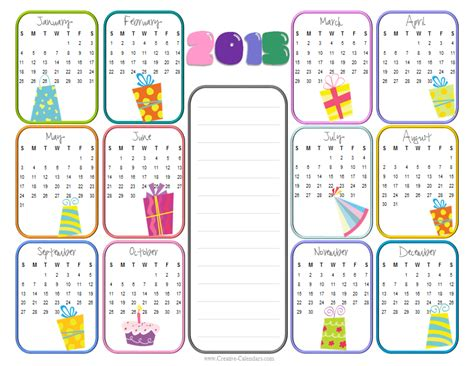 birthday calendars templates free 7 best images of birthday calendar 2015 printable free