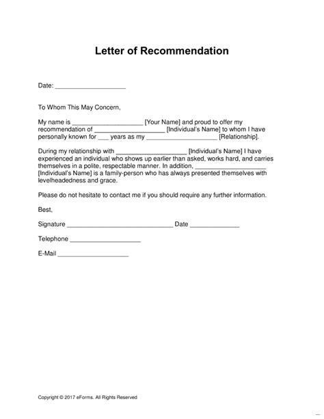 personal letters of recommendation personal letter of recommendation necessary illustration