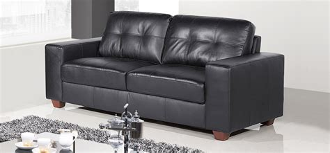 roma leather sofa roma 3 2 1 seater midnight black hbspc b 001
