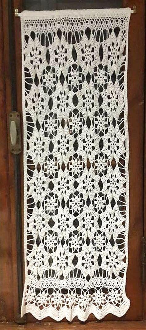 visillo floral en tejido crochet crochet cortinas tejidas  crochet ganchillo cortinas