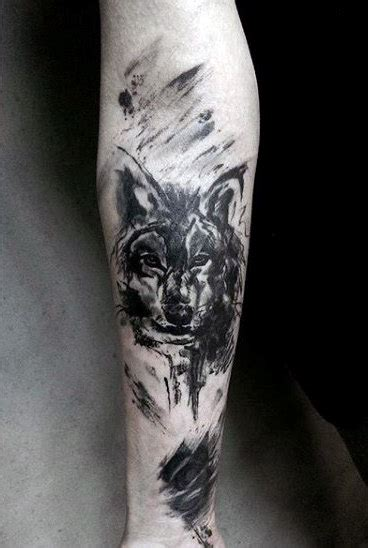 wolf skull tattoo 70 wolf designs for masculine idea inspiration