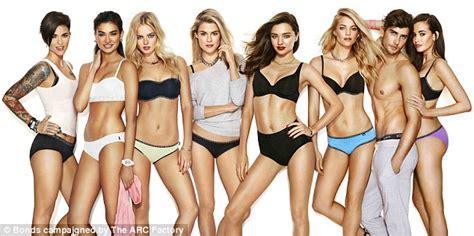 bonds girls underwear miranda kerr strips down to underwear for bond s 100th