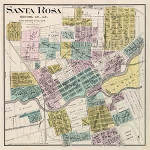 santa rosa map map of santa rosa print giclee