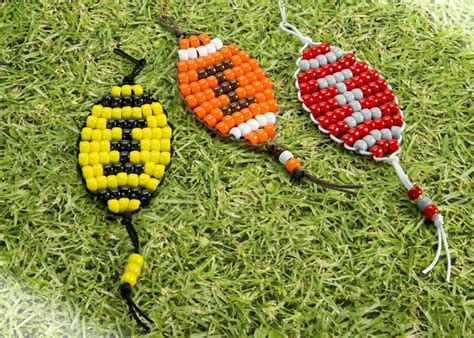 football craft projects football pony bead patterns craft ideas