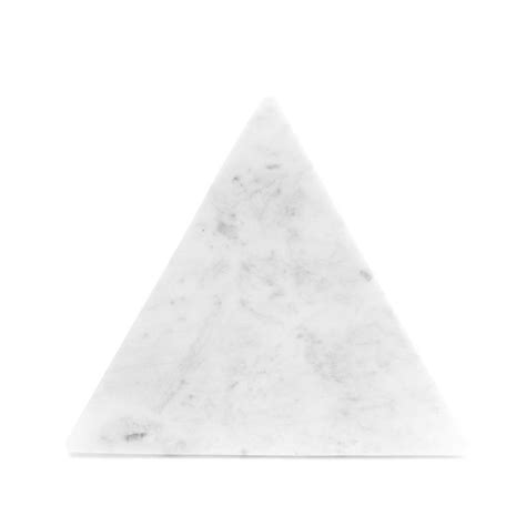 Triangle Marble by White Marble Triangle Platter Oform
