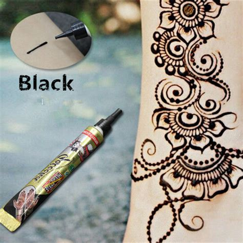 henna tattoo with india ink aliexpress buy 1pcs high quality henna paste
