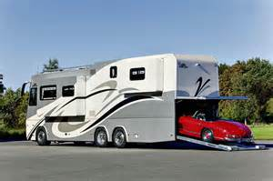Motorhome With Garage by Luxury High Tech Motorhome With Car Garage Vogel Talks Rving
