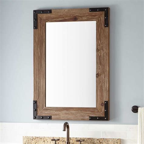 pine bathroom mirror bonner reclaimed wood vanity mirror pine bathroom