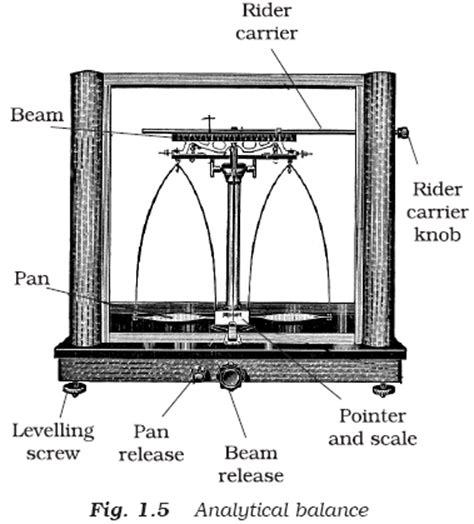 analytical balance diagram ncert class xi chemistry chapter 1 some basic concepts