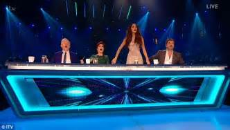Osbourne Shocks Audience With Revelation That Family Member Is Hiv Positive by X Factor 2016 Osbourne Holding Cue Card
