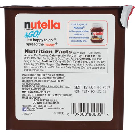 8 Food Facts by Nutella Nutrition Label Nutrition Ftempo